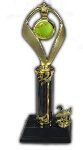 Kaz Bros Design Shop column trophy example