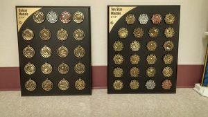 Medal examples by Kaz Bros Design Shop